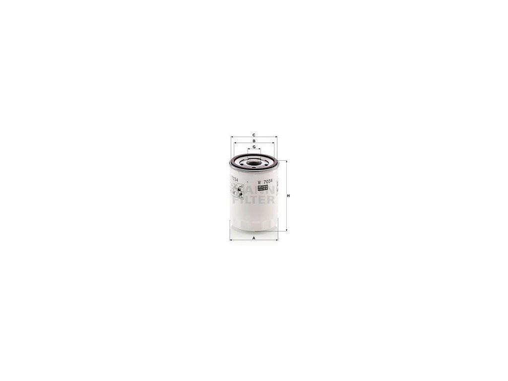 Olejový filtr MANN-FILTER W 7034