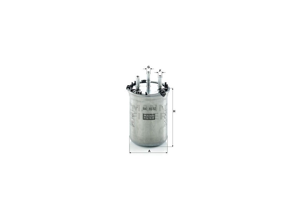 Palivový filtr MANN-FILTER WK 8032