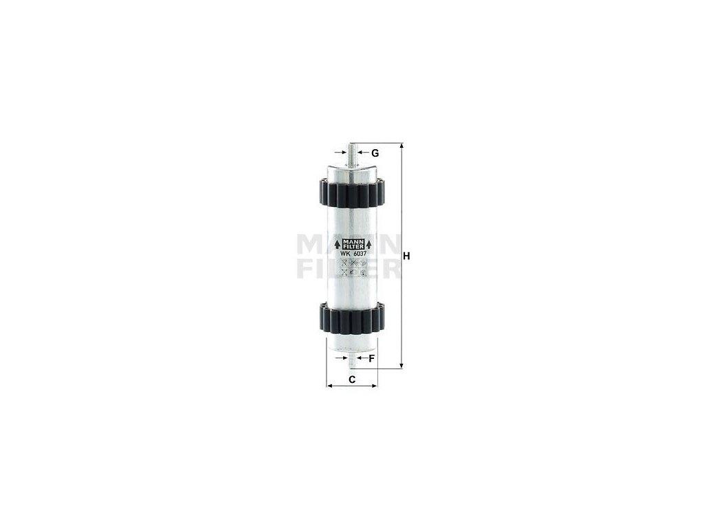 Palivový filtr MANN-FILTER WK 6037
