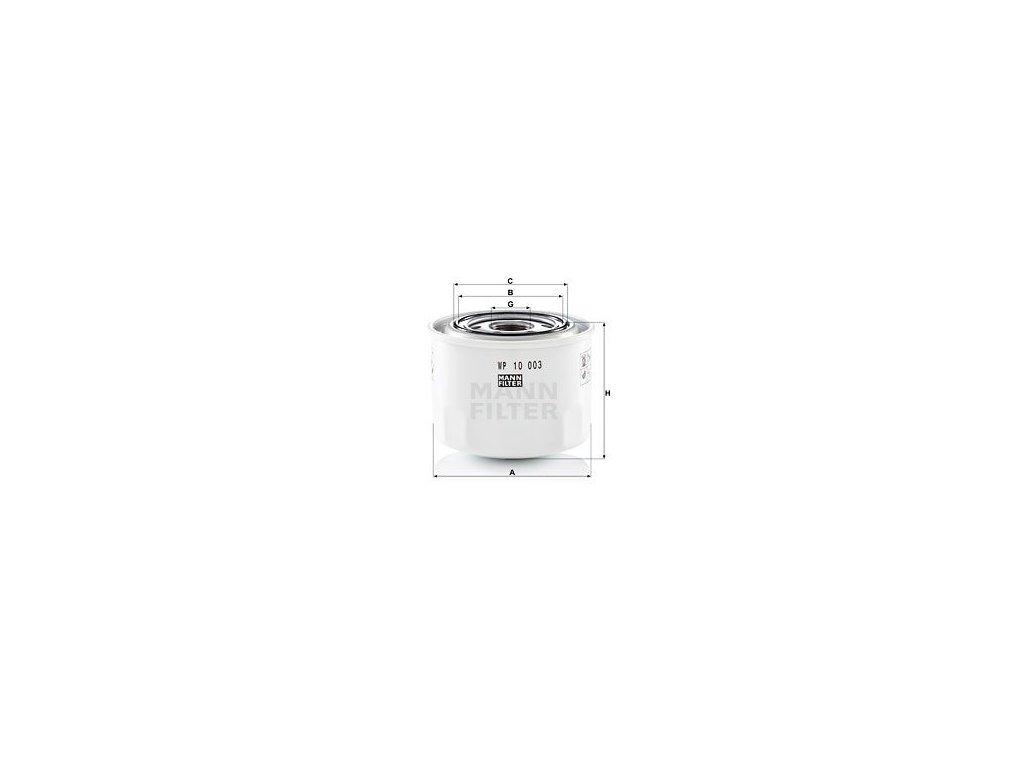 Olejový filtr MANN-FILTER WP 10 003