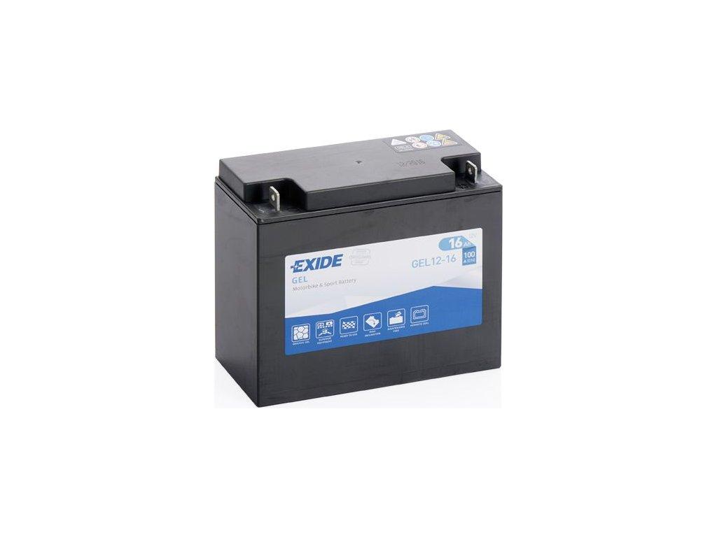Startovací baterie EXIDE EXIDE GEL GEL12-16