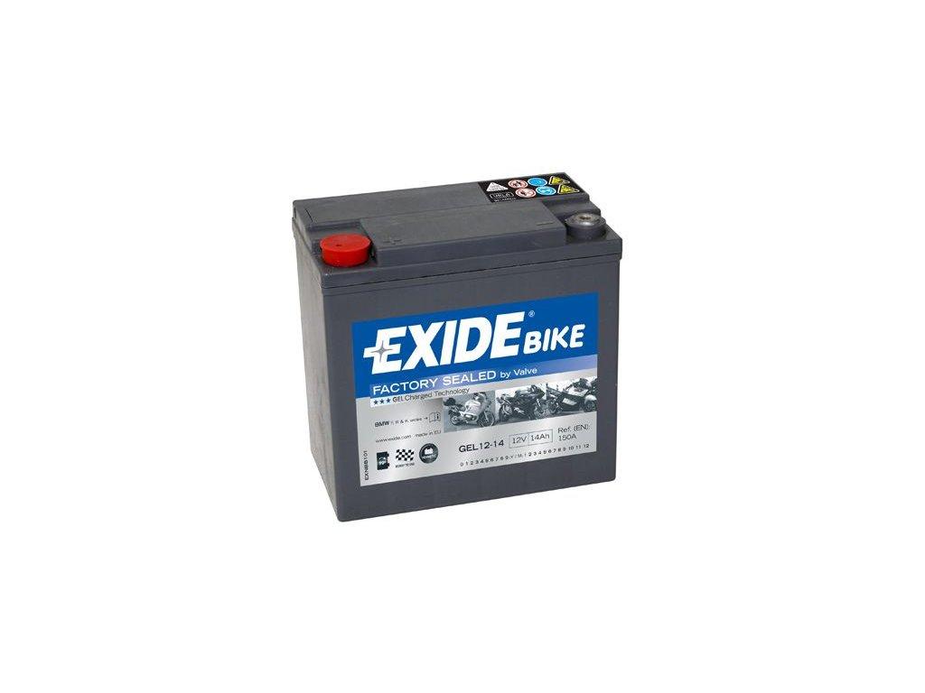 Startovací baterie EXIDE EXIDE GEL GEL12-14