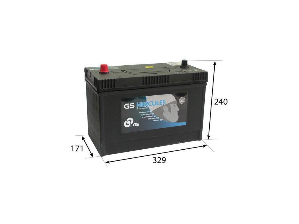 Startovací baterie GS GS Cargo Super Heavy Duty Battery GS-640SHD
