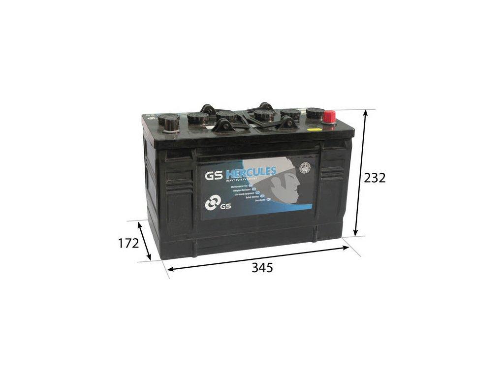 Startovací baterie GS GS Cargo Heavy Duty Battery GS-663HD
