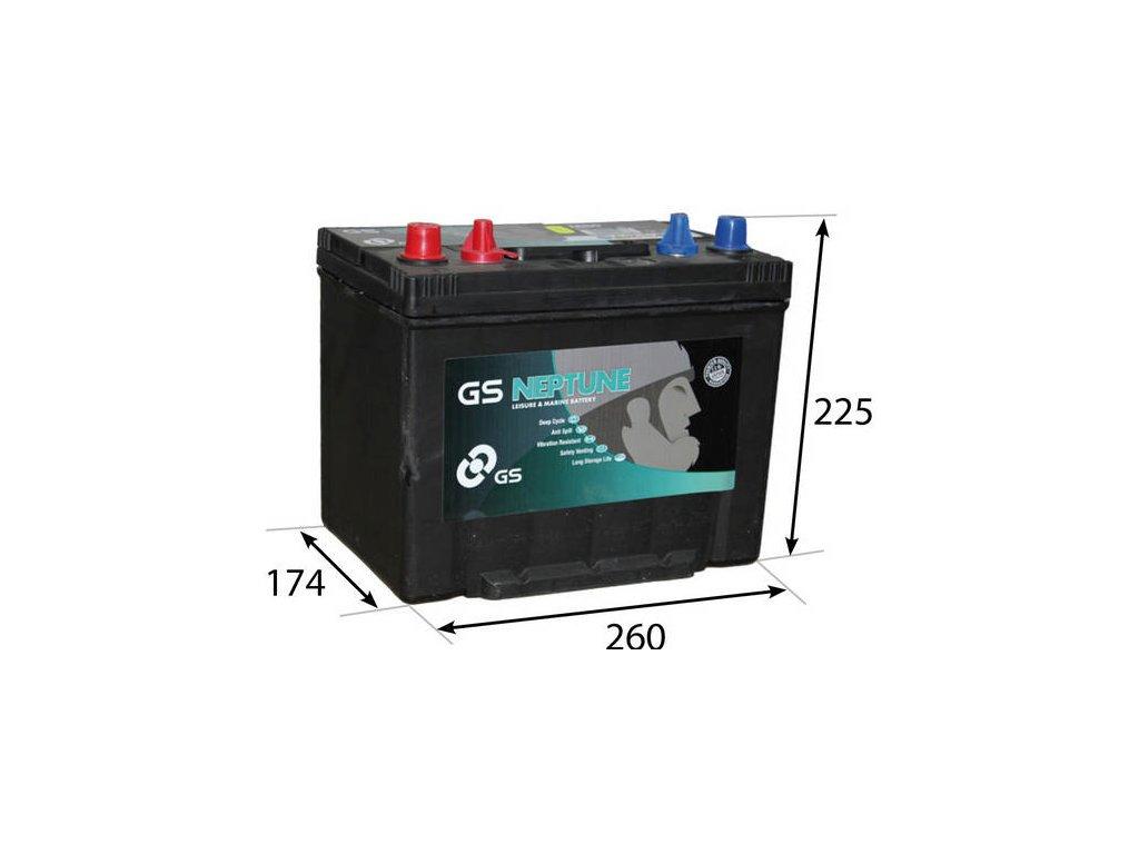 Startovací baterie GS GS Marine Battery GS-M26-80