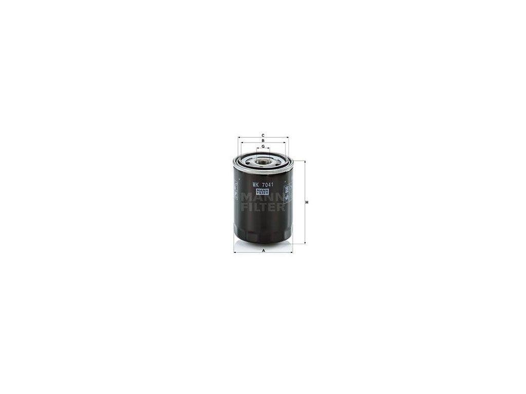 Palivový filtr MANN-FILTER WK 7041