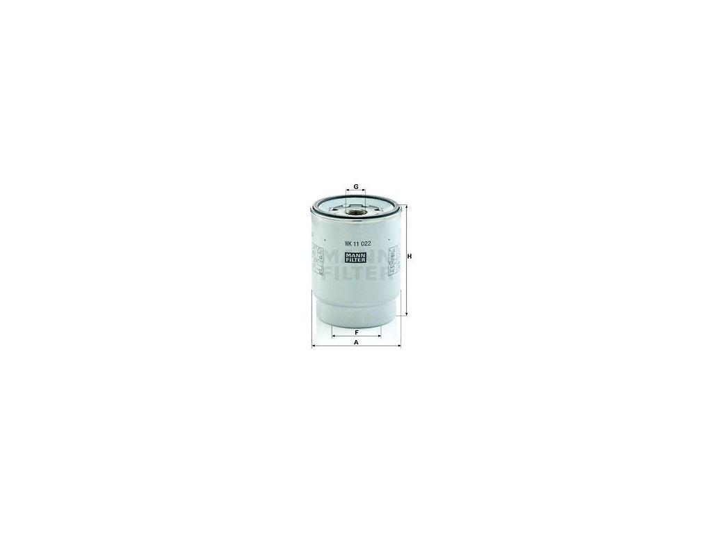 Palivový filtr MANN-FILTER WK 11 022 z
