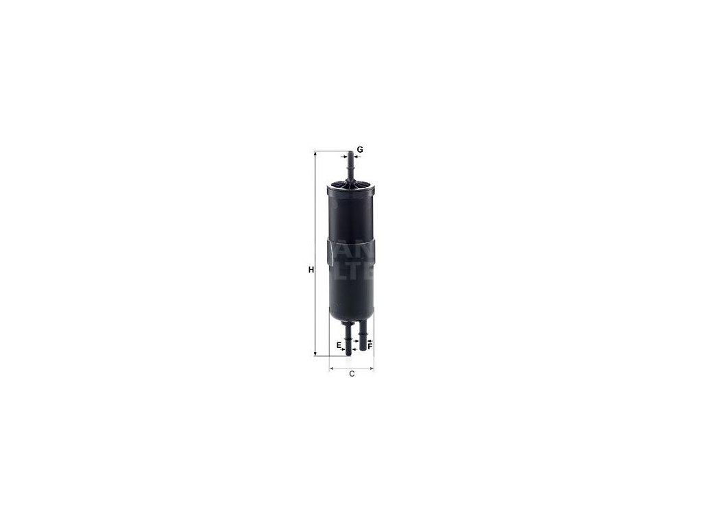 Palivový filtr MANN-FILTER WK 6030
