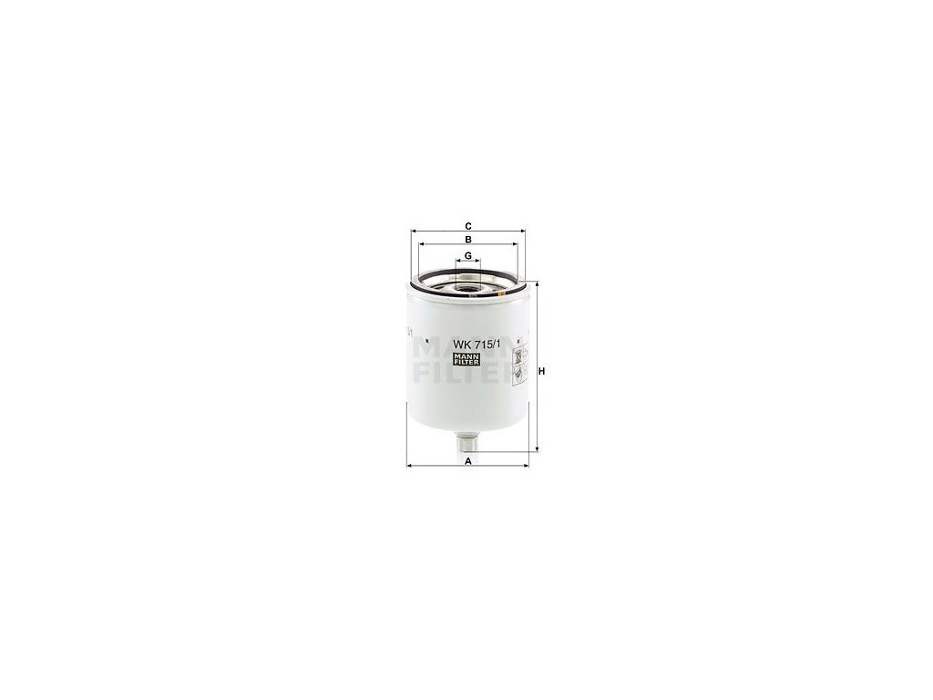 Palivový filtr MANN-FILTER WK 715/1 x