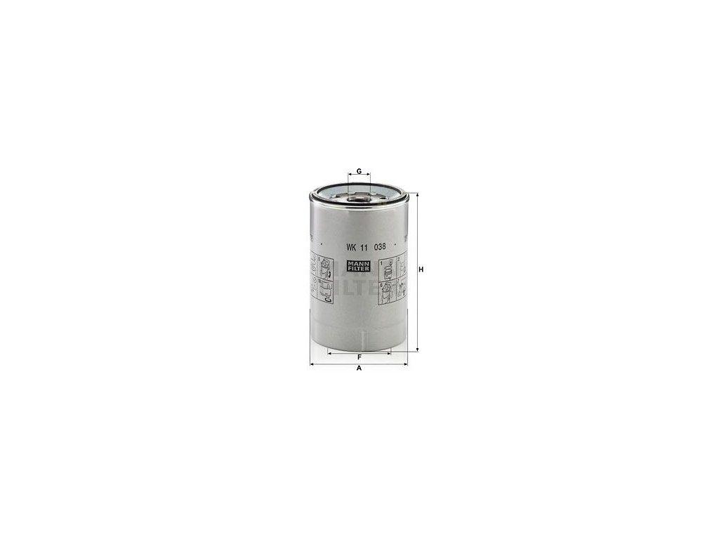 Palivový filtr MANN-FILTER WK 11 038 z