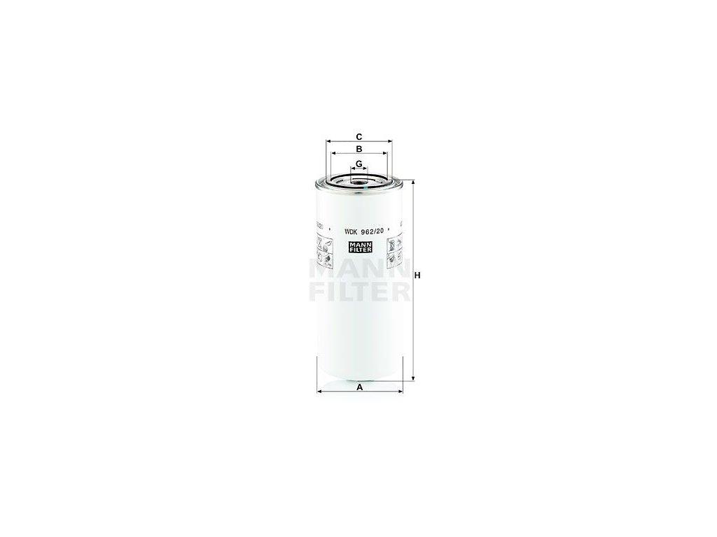 Palivový filtr MANN-FILTER WDK 962/20