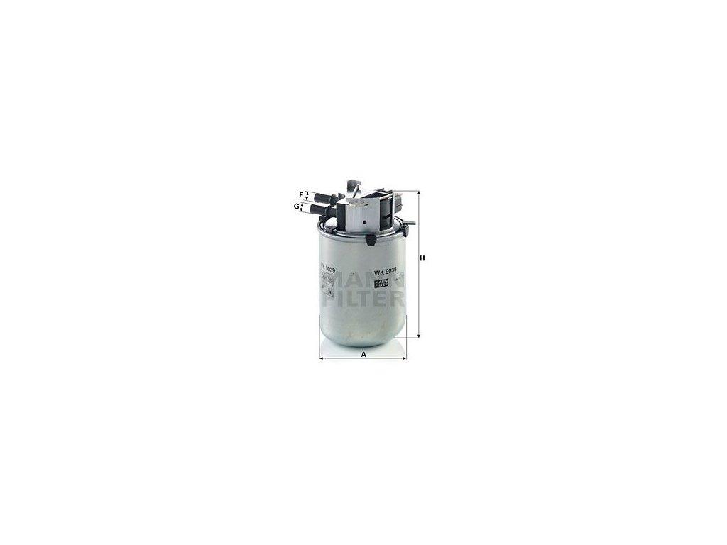 Palivový filtr MANN-FILTER WK 9039