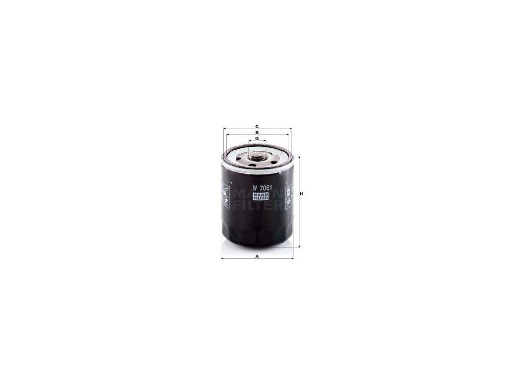 Olejový filtr MANN-FILTER W 7061
