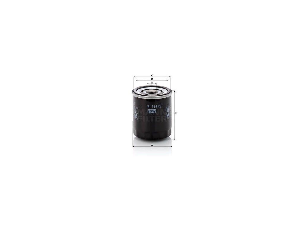 Olejový filtr MANN-FILTER W 716/2