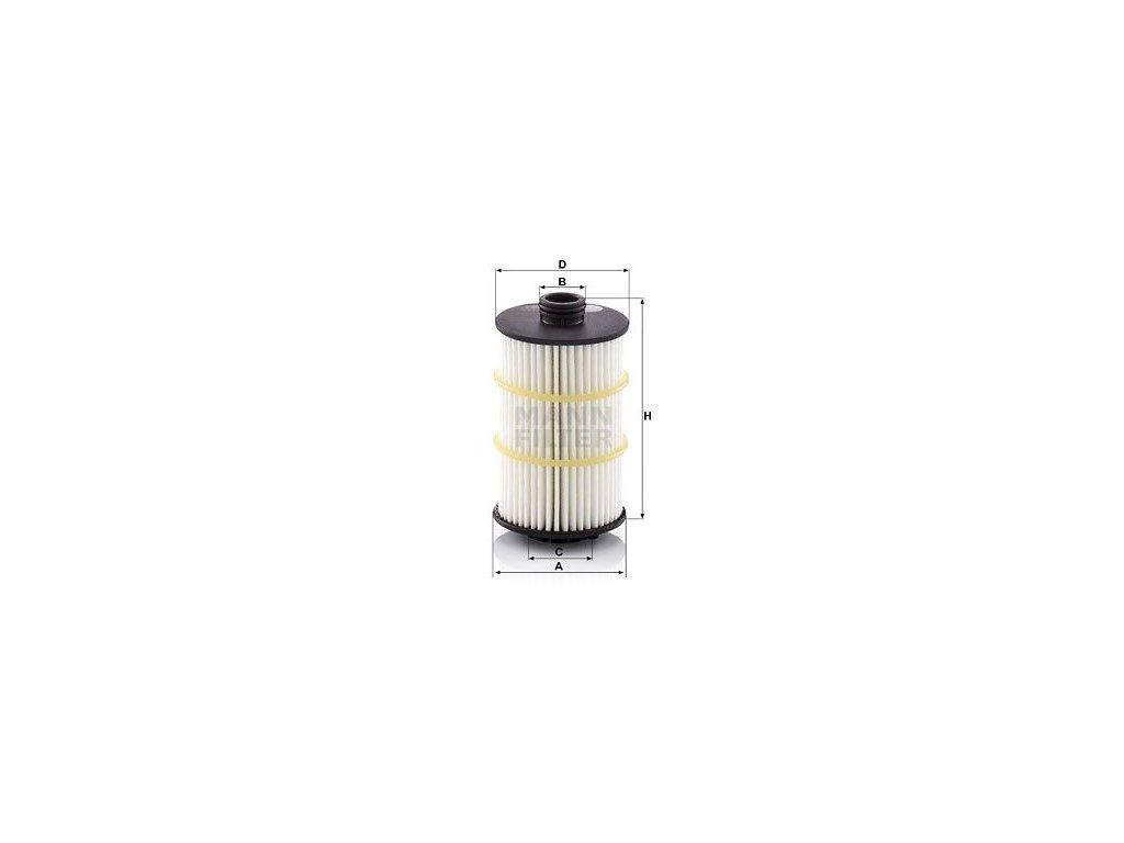 Olejový filtr MANN-FILTER HU 7024 z