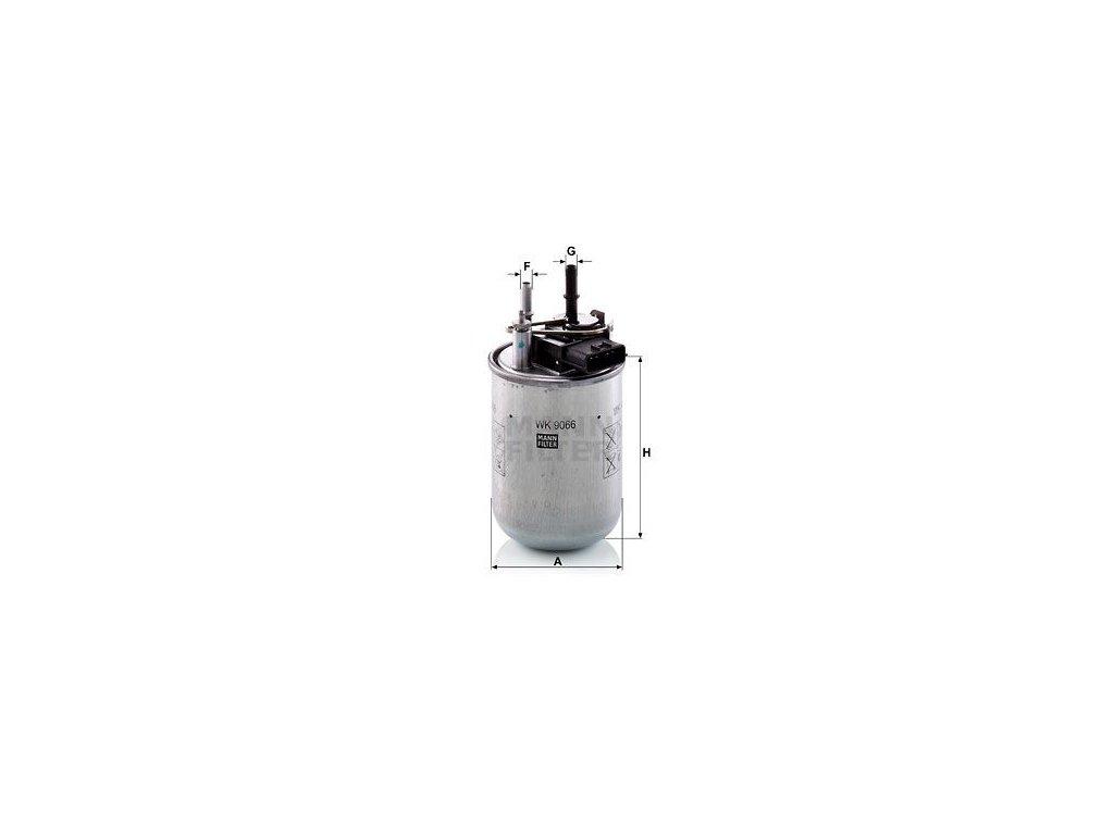 Palivový filtr MANN-FILTER WK 9066