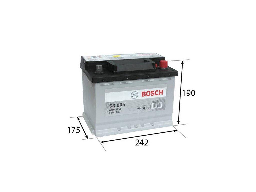Startovací baterie BOSCH S3 0 092 S30 050
