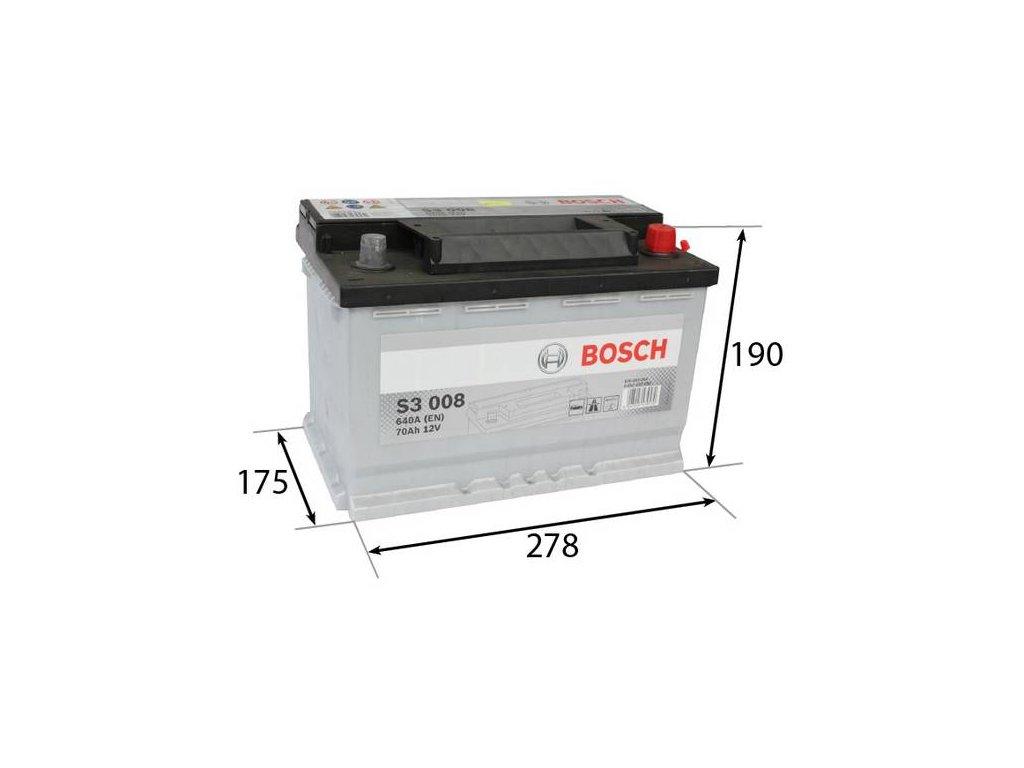 Startovací baterie BOSCH S3 0 092 S30 080