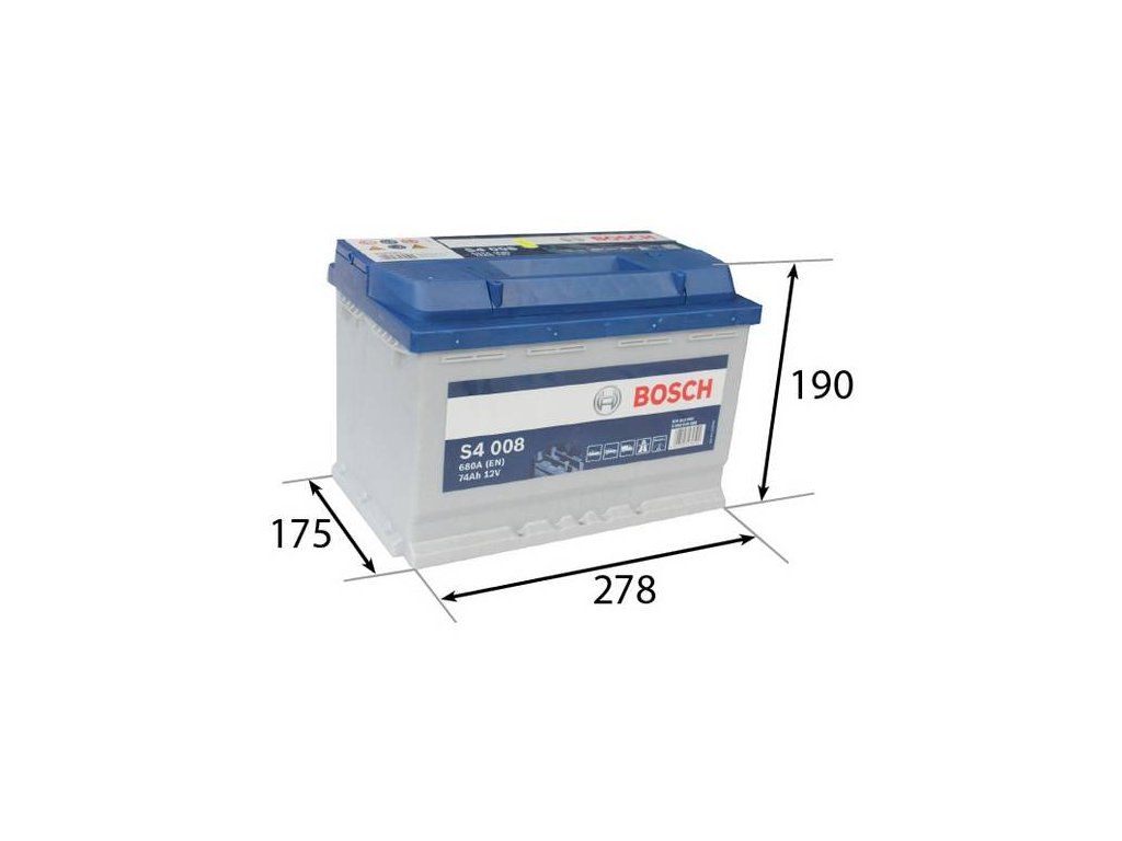 Startovací baterie BOSCH S4 0 092 S40 080