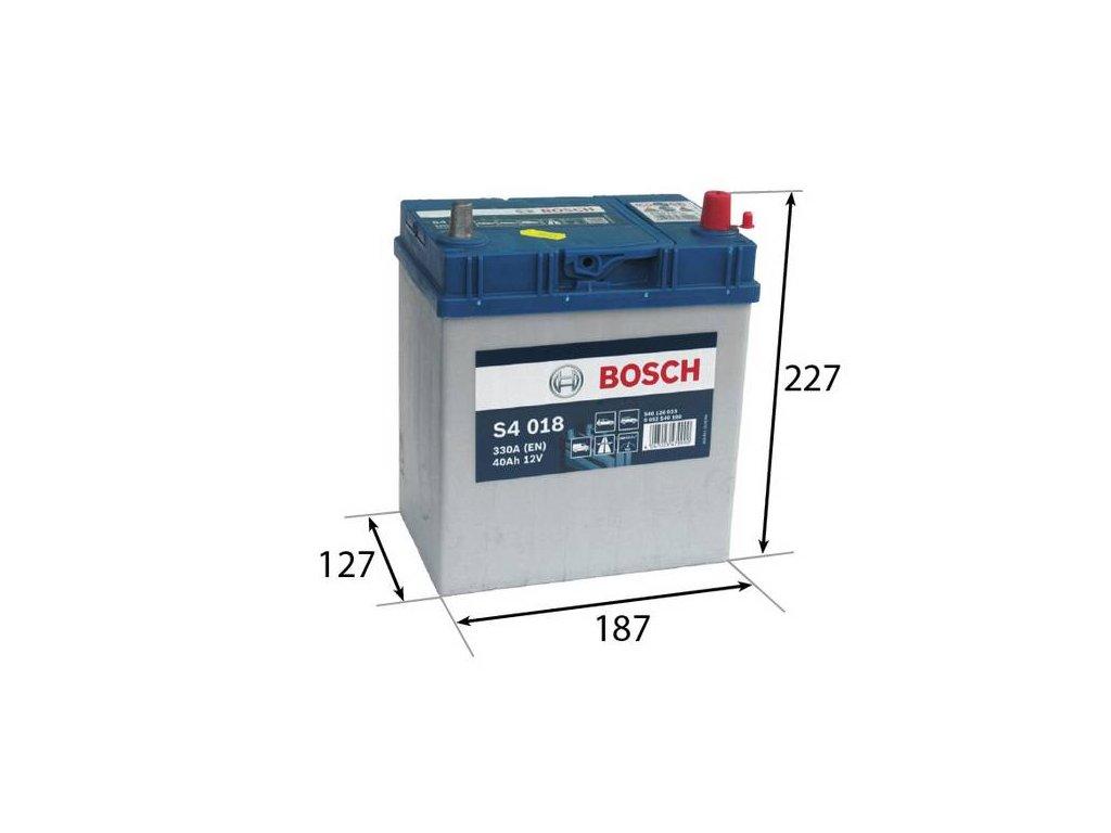 Startovací baterie BOSCH S4 0 092 S40 180