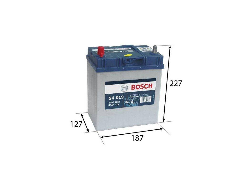 Startovací baterie BOSCH S4 0 092 S40 190