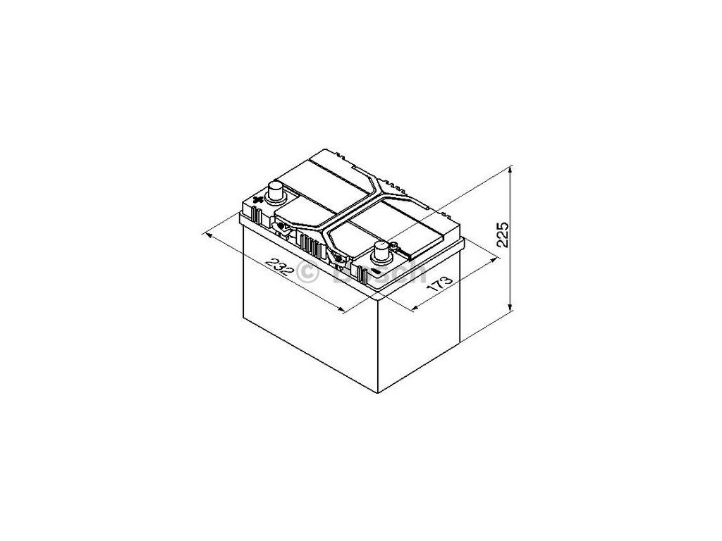 Startovací baterie BOSCH S4 0 092 S40 250
