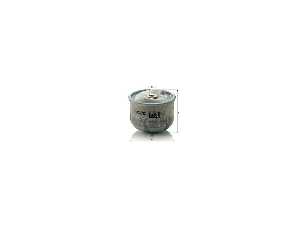 Olejový filtr MANN-FILTER ZR 700 x