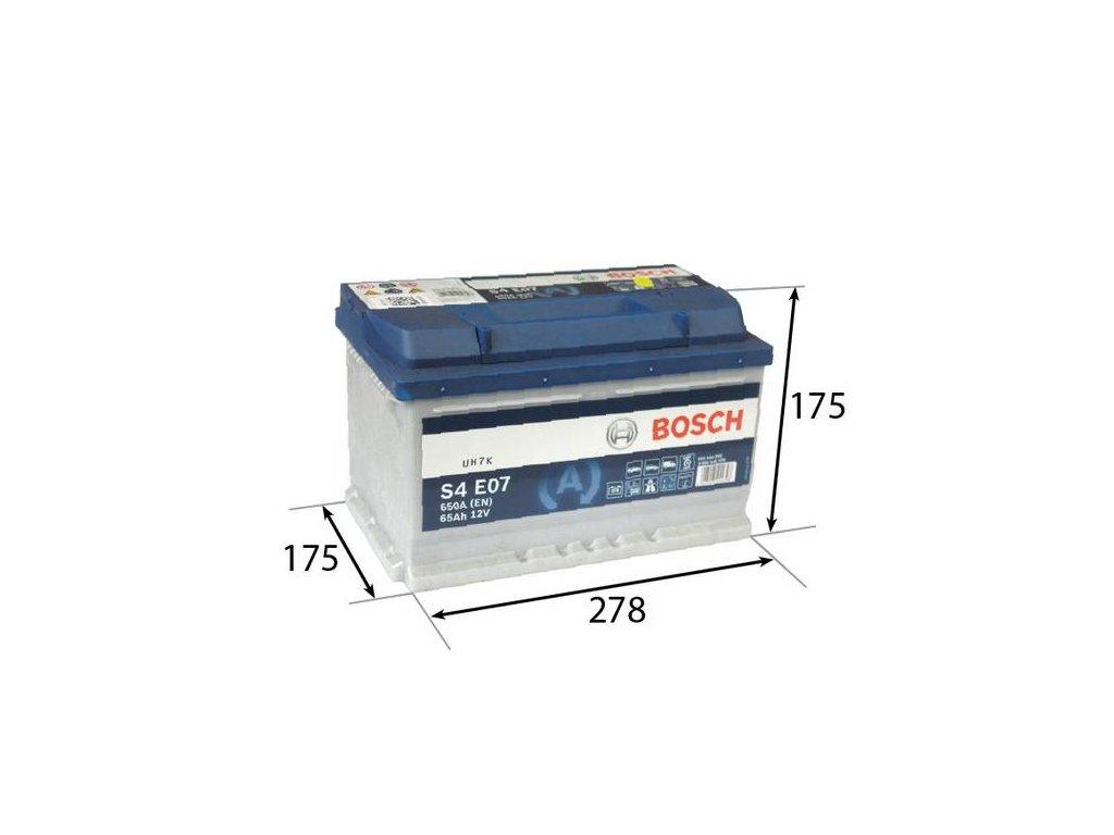 Startovací baterie BOSCH S4E 0 092 S4E 070