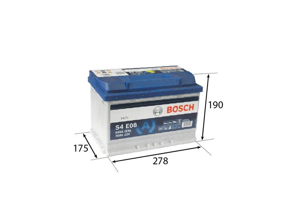 Startovací baterie BOSCH S4E 0 092 S4E 080