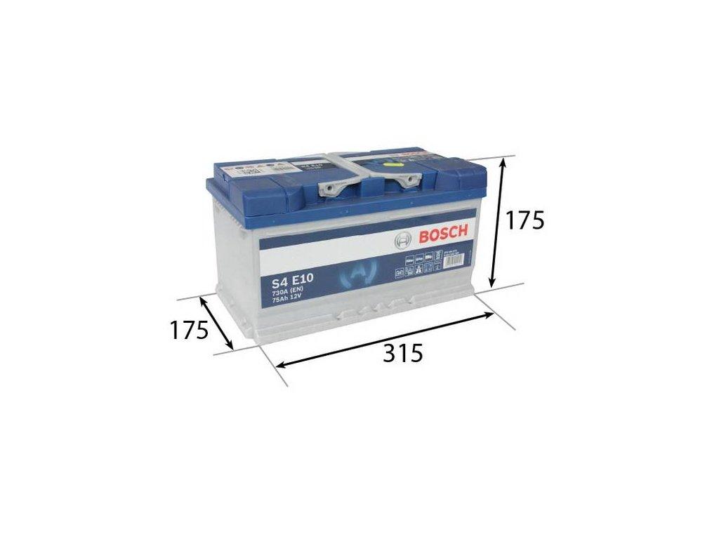 Startovací baterie BOSCH S4E 0 092 S4E 100