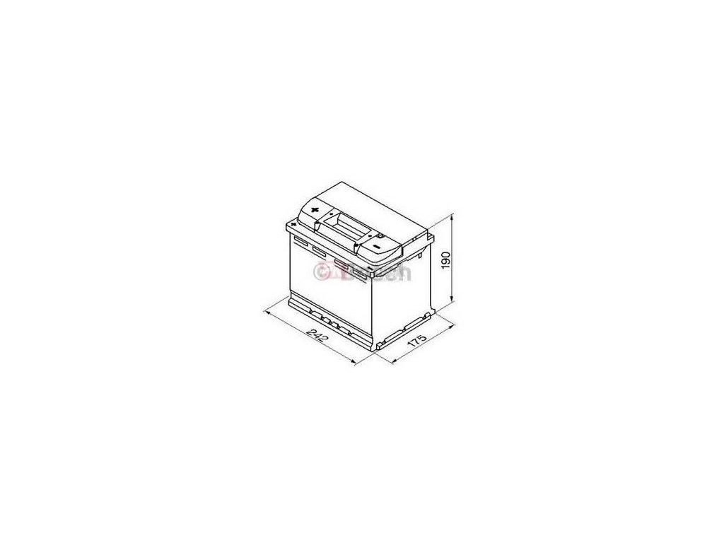 Startovací baterie BOSCH S5A 0 092 S5A 050
