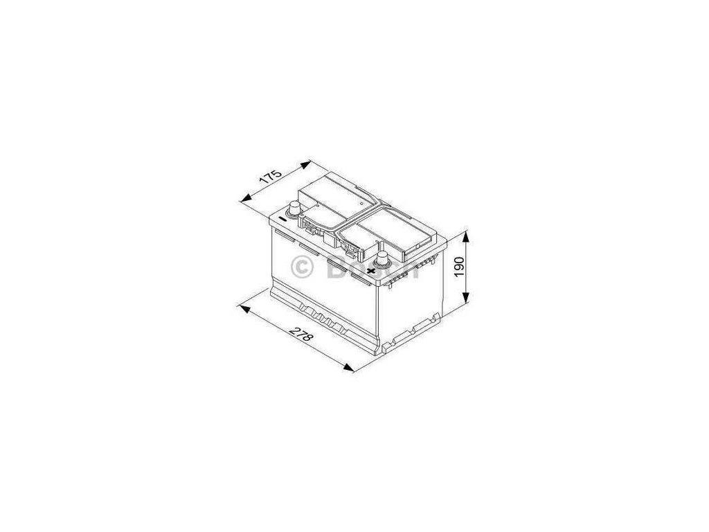 Startovací baterie BOSCH S5A 0 092 S5A 080