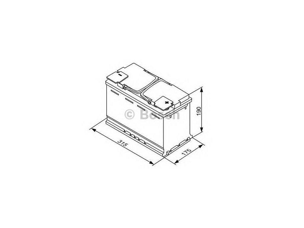 Startovací baterie BOSCH S5A 0 092 S5A 110