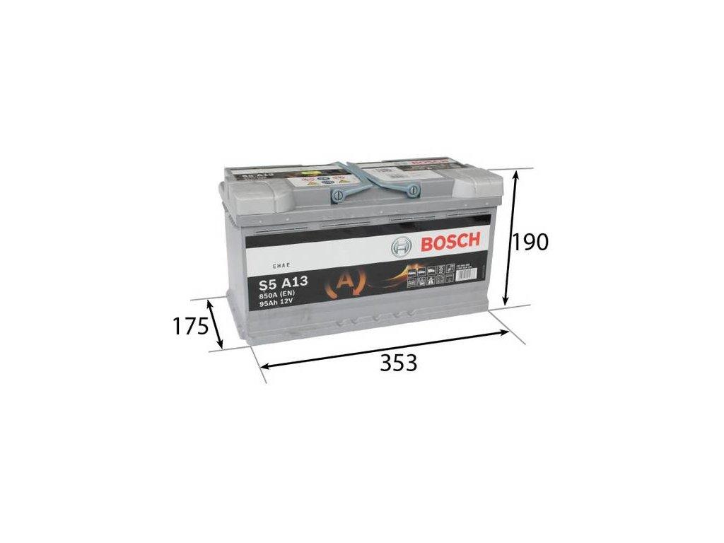 Startovací baterie BOSCH S5A 0 092 S5A 130