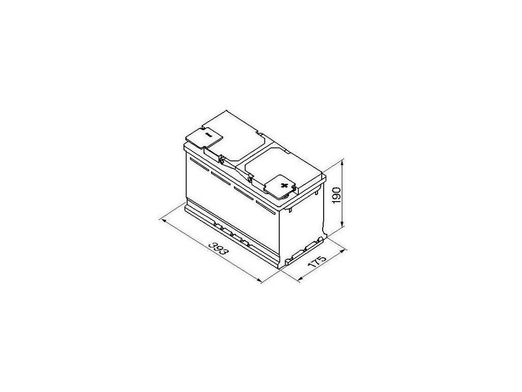 Startovací baterie BOSCH S5A 0 092 S5A 150