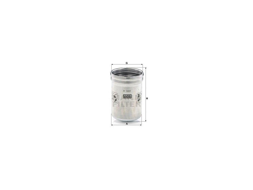 Olejový filtr MANN-FILTER W 1022