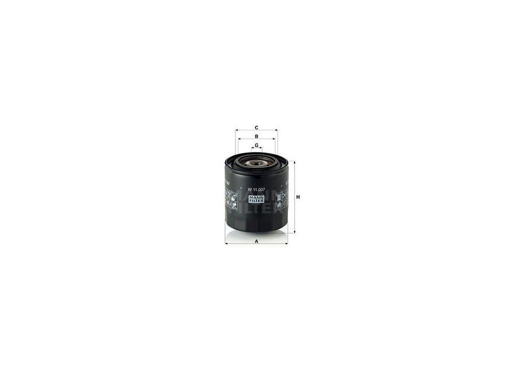 Olejový filtr MANN-FILTER W 11 007