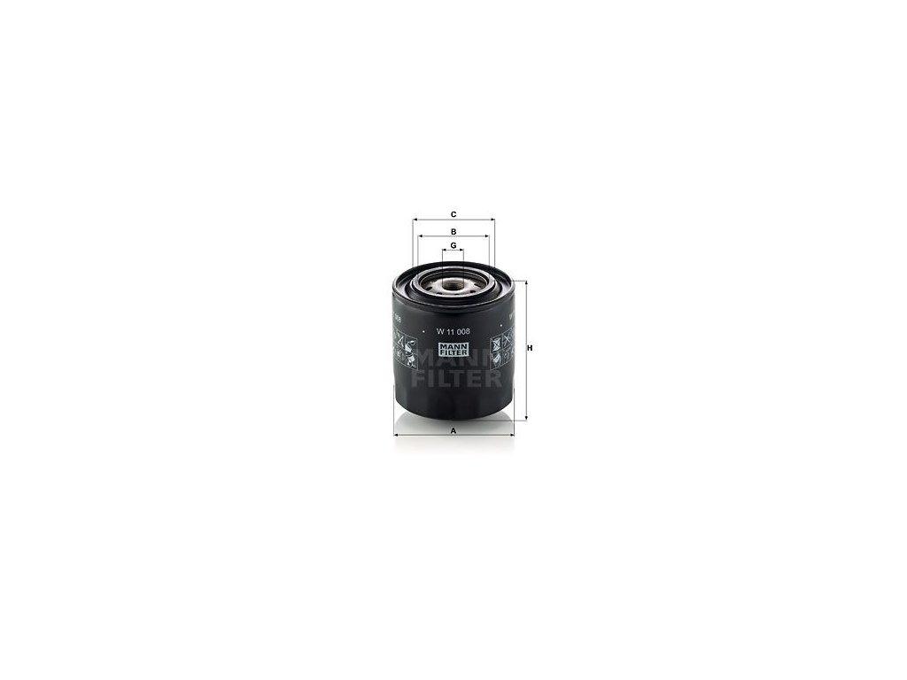 Olejový filtr MANN-FILTER W 11 008