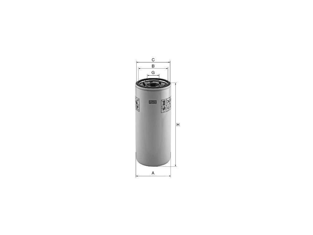 Olejový filtr MANN-FILTER W 11 011