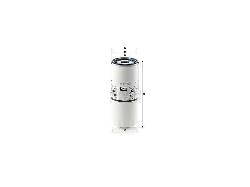 Olejový filtr MANN-FILTER W 11 102/34