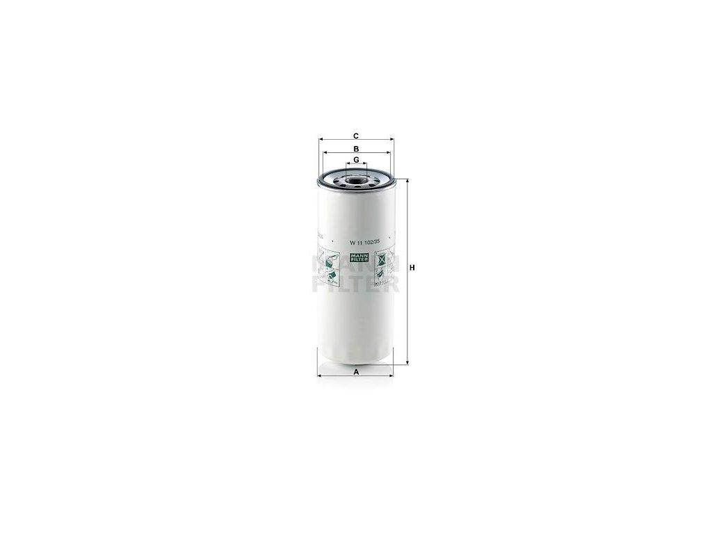 Olejový filtr MANN-FILTER W 11 102/35