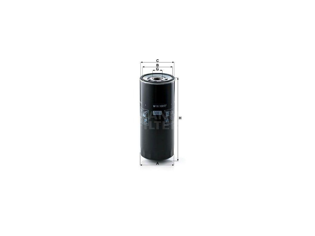 Olejový filtr MANN-FILTER W 11 102/37