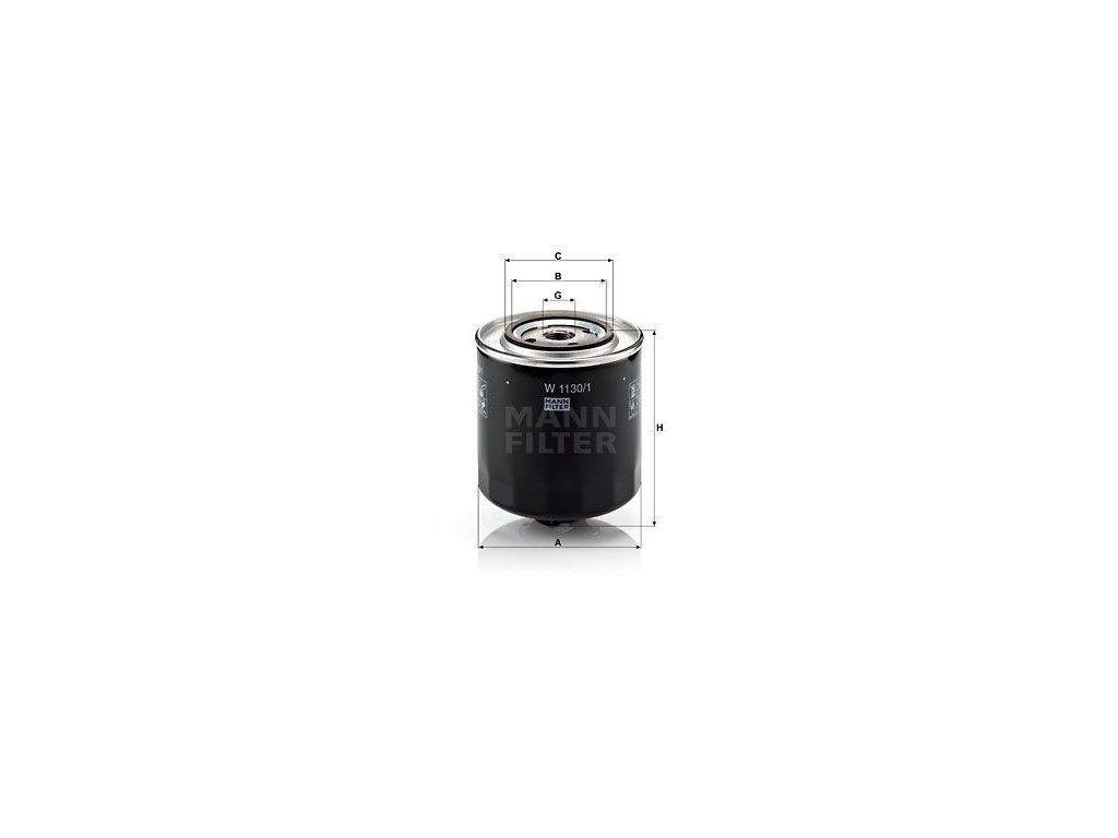 Olejový filtr MANN-FILTER W 1130/1