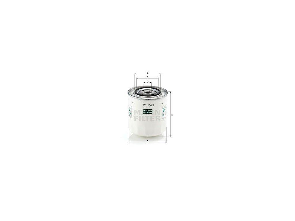 Olejový filtr MANN-FILTER W 1130/3
