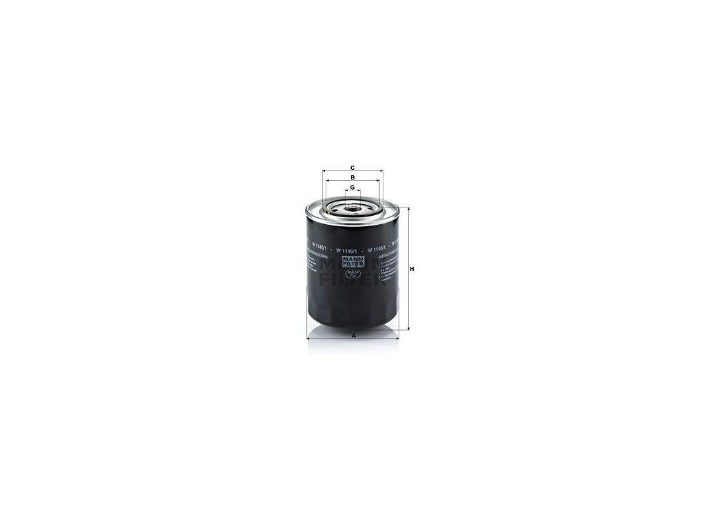 Olejový filtr MANN-FILTER W 1140/1