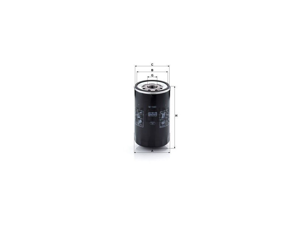 Olejový filtr MANN-FILTER W 1160