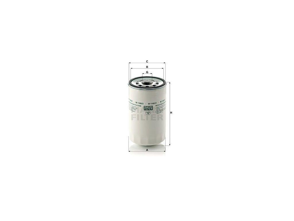 Olejový filtr MANN-FILTER W 1160/2