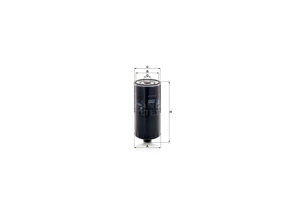 Olejový filtr MANN-FILTER W 1170/13