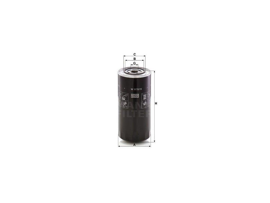 Olejový filtr MANN-FILTER W 1170/15