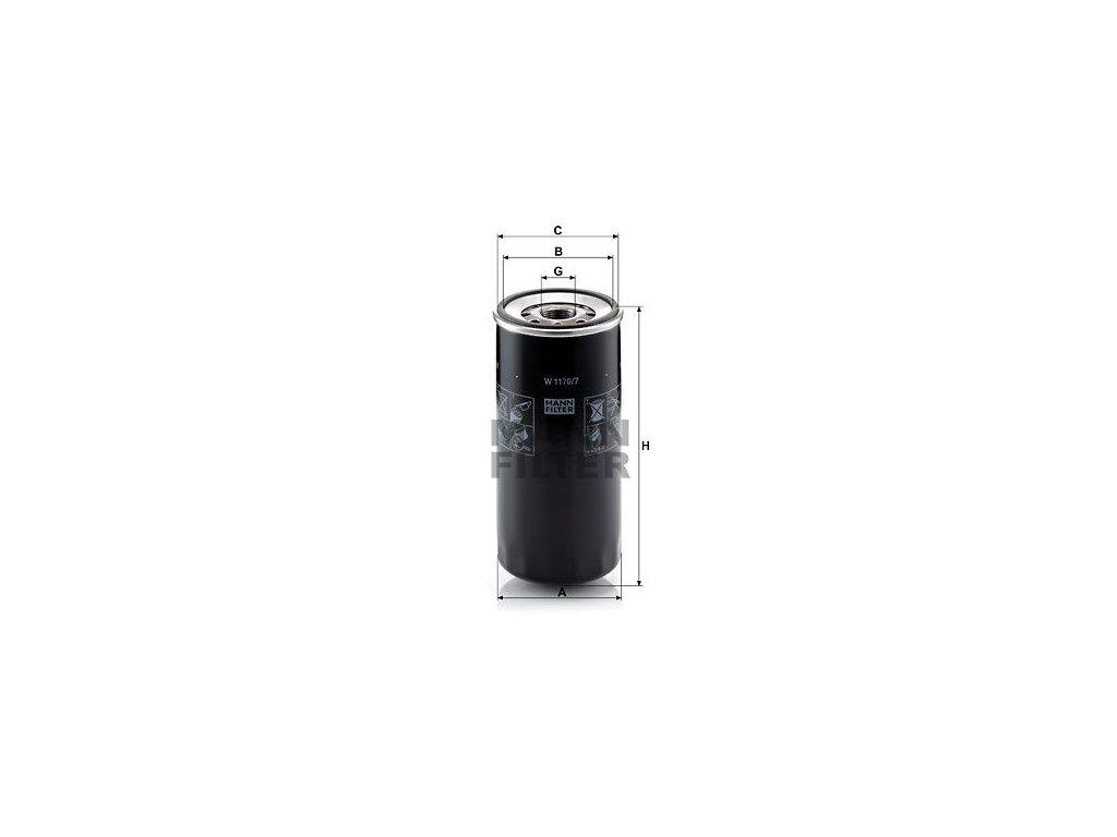 Olejový filtr MANN-FILTER W 1170/7